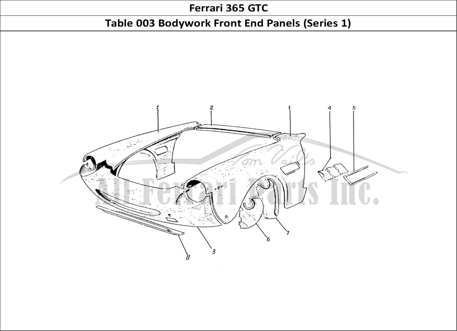 Buy Original Ferrari 365 Gtc 003 Bodywork Front End Panels