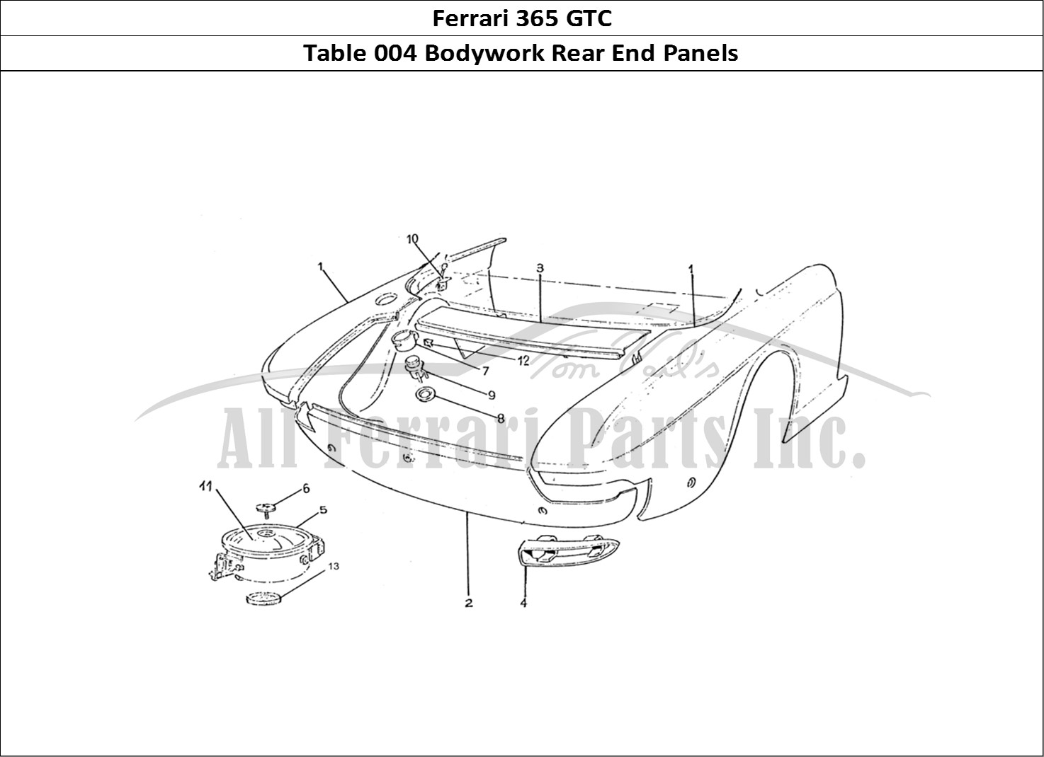 Buy Original Ferrari 365 Gtc 004 Bodywork Rear End Panels