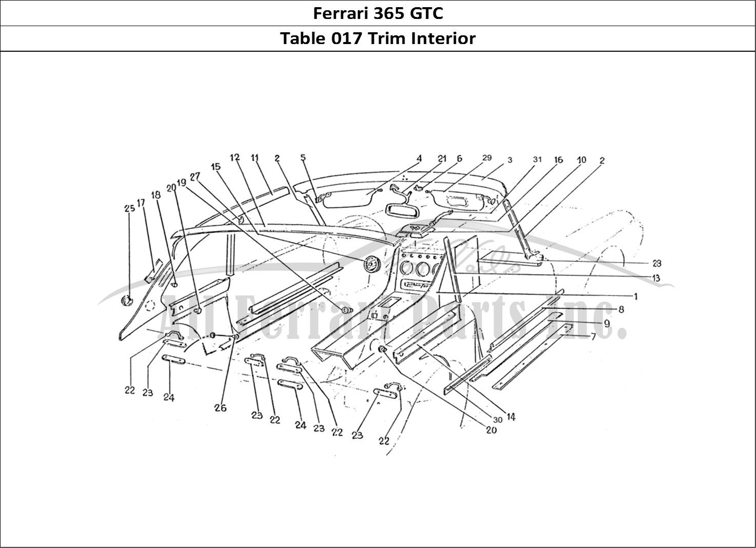 Buy Original Ferrari 365 Gtc 017 Trim Interior Ferrari