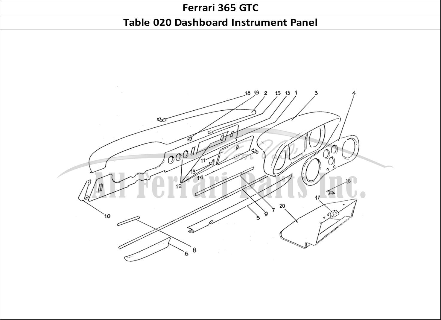 Buy Original Ferrari 365 Gtc 020 Dashboard Instrument