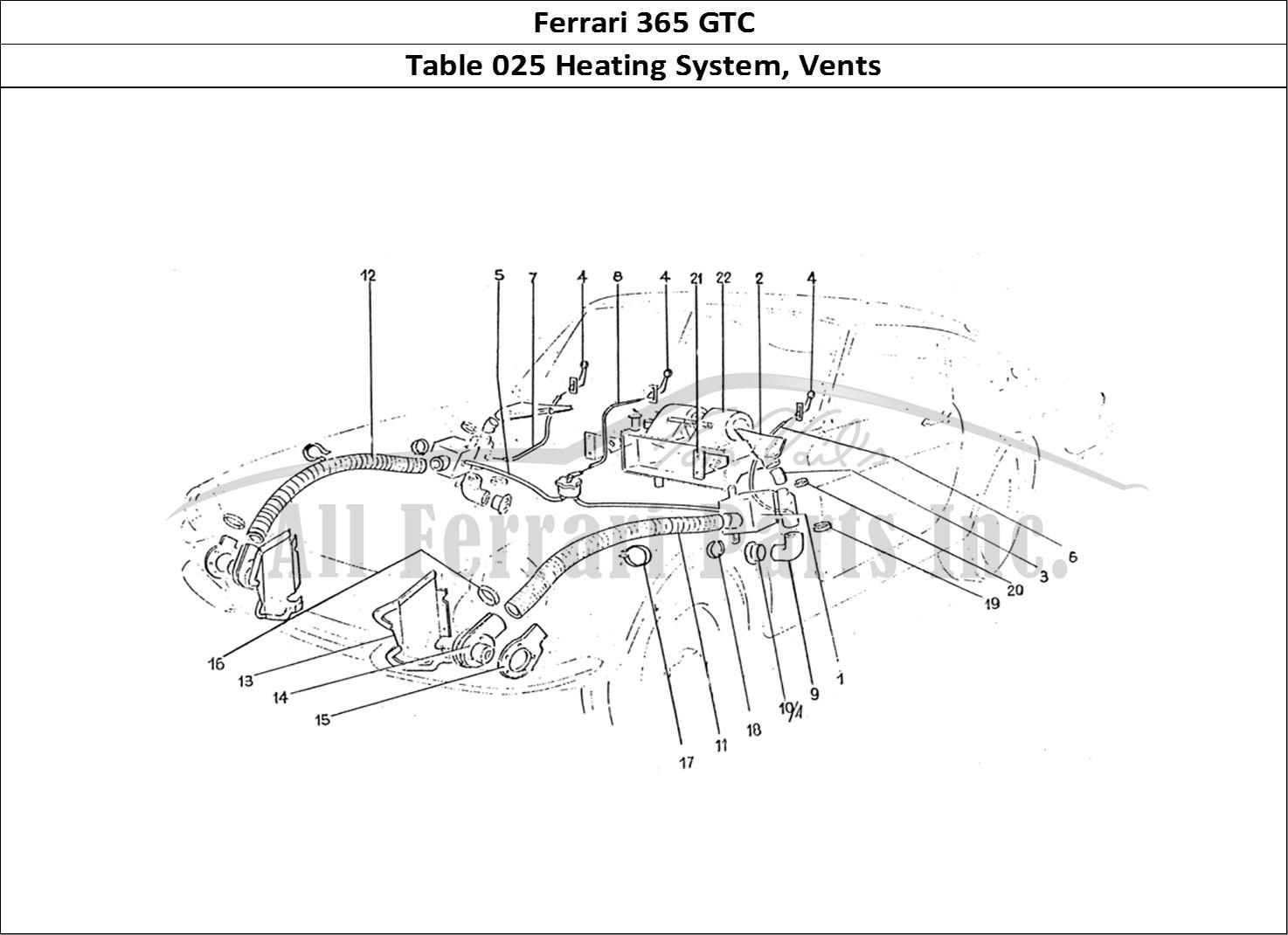 Buy Original Ferrari 365 Gtc 025 Heating System Vents