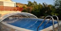 piscine demi ouverte