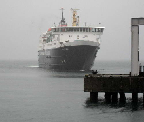 The Oban-Mull Ferry in the rain. Photo by Ferrell Jenkins.