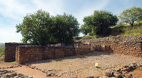 The Iron Age City Gate at Dan. Photo by Ferrell Jenkins.