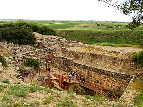 The water shaft at Hazor. Photo by