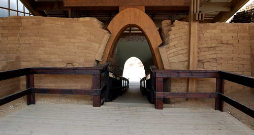 The Canaanite Gate at Ashkelon. Photo by Ferrell Jenkins.