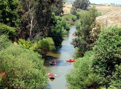 Jordan River at the Bridge of Jacob's Daughters. Photo by F. Jenkins.