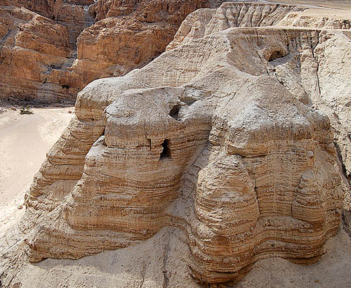 Cave 4 at Qumran. Photo by Ferrell Jenkins.