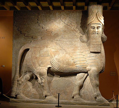Assyrian winged bull, OIUC. Photo by Ferrell Jenkins.