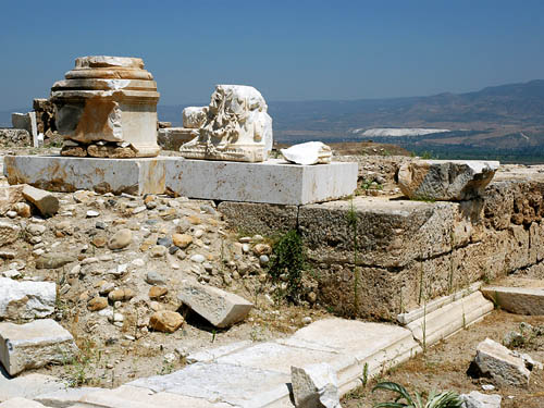 Temple ruins at Laodicea. View north to Hierapolis. Photo by Ferrell Jenkins.