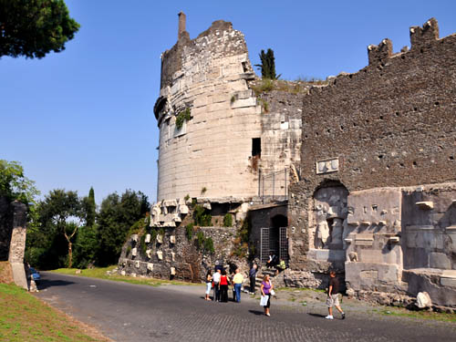 The Tomb of Caecilia Metella on the Appian Way. Photo by Ferrell Jenkins.