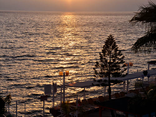 Sea of Galilee at Sunrise with Little Storm