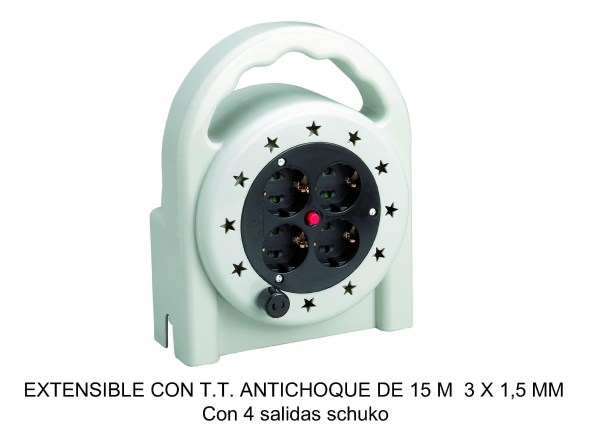 EXTENSIBLE 15MTRS ANTICHOQUE