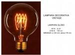 LAMPARA GLOBO G-125 VINTAGE 40W E-27
