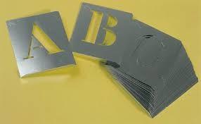 abecedario pintar aluminio 40mm a -z
