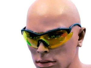 gafas proteccion c/patillas negras lente amarilla xtrem