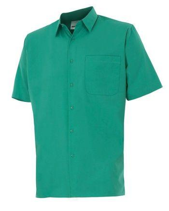 camisa manga corta verde