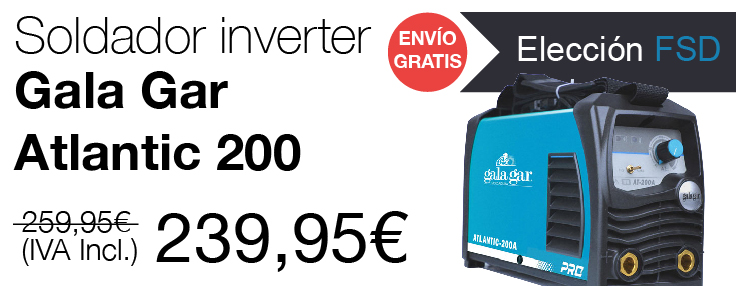 Soldador inverter Gala Gar Atlantic 200