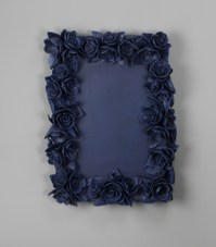 "Giselle Hicks, ""And Then It Was Still II Frame"" 2012, vitreous china porcelain, 18 x 12 x 2""."