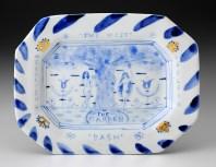 "Mara Superior, ""In The Garden — The West"" 2015, porcelain, 7 x 9 x 2""."