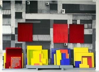 "Robert Silverman, ""Tirana (inspired by Rana) 2015, 15 x 10'."