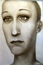 "Sergei Isupov, ""Lady"" 2008, gouache on paper, 60 x 42""."