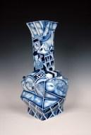 """Kurt Weiser, """"Chinese Cubist II"""" 2013, porcelain, 22 x 10 x 10""""."""