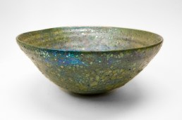 "Beatrice Wood, ""Lava Glaze Bowl"" c. 1950-60, 5 x 11.5 x 11.5."