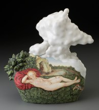 "Kadri Pärnamets, ""Nymph of Spring"" 2015, porcelain, slip, glaze, 14 x 13 x 7"". photo: John Polak"
