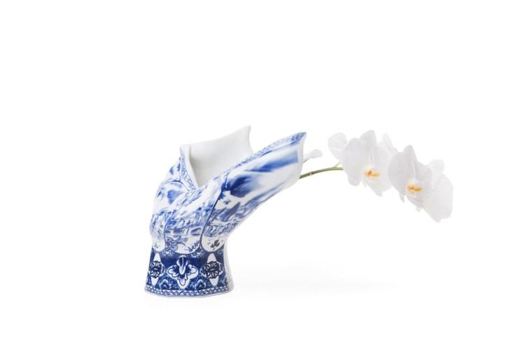 """Front Design, Blow Away Vase, Royal Delft Porcelain, 2008, 11 x 12 x 9"""""""