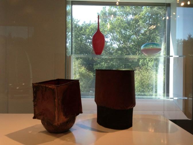 Lino Tagliapietra, Vessel, 1998, blown & cut glass, Gift of Dale & Doug Anderson   June Schwarcz, Vessels, 1995-6, funds donated by Daniel & Jessie Lie Farber MFA Boston