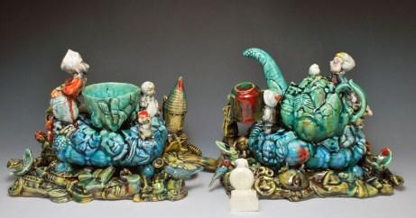 "Craig Clifford, ""Flush"" 2013, earthenware, casting slip, 10 x 16 x 5""."