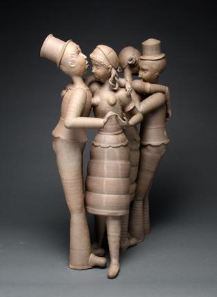"Gerit Grimm, ""Tango"" 2012, stoneware, 26 x 17 x 9""."