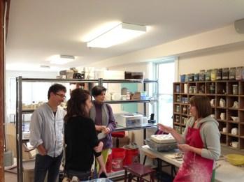 Paul Scott's USA Tour- dual residencies at Project Art and the Clay Studio - Elenor Wilson in Cummington