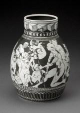 "Edward Eberle, ""The Prince's Retinue"" 1996, porcelain, 8.25 x 6"". (Pennington)"