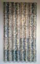 """Giselle Hicks, """"Floral Wave Tiles"""" 2012, vitreous china, 80 x 45 x 1.5""""."""