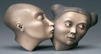 "Sergei Isupov, ""Passion"" 2005, porcelain, 7.75 x 14 x 3""."