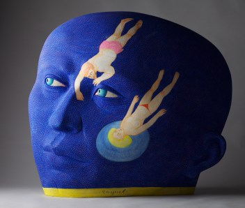 "Sergei Isupov, ""Adrift"" 2013, 36 x 40 x 12""."