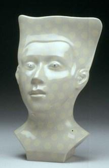 """Sergei Isupov, """"Likeness"""" (edition of 6), 2003, vitreous china, 18 x 12 x 6""""."""