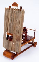 "Roy Superior, ""The Critic"" 1983, wood, metal, 21.5 x 9 x 18"". (Allan Stone Collection)"
