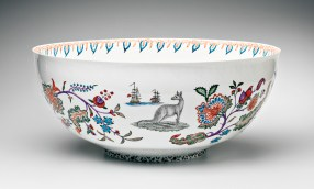 "Robin Best, ""Arcana Bowl"" porcelain, 23.5"". In the Permanent Collection of the Peabody Essex Museum, Salem, MA"