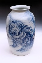 "Garth Johnson, ""The Shar-pei Immortals"" 2010, porcelain, 11.5 x 6.5 x 6.5""."