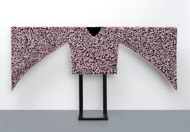 "Caroline Cheng, ""Prosperity"" 2012, porcelain, fabric."