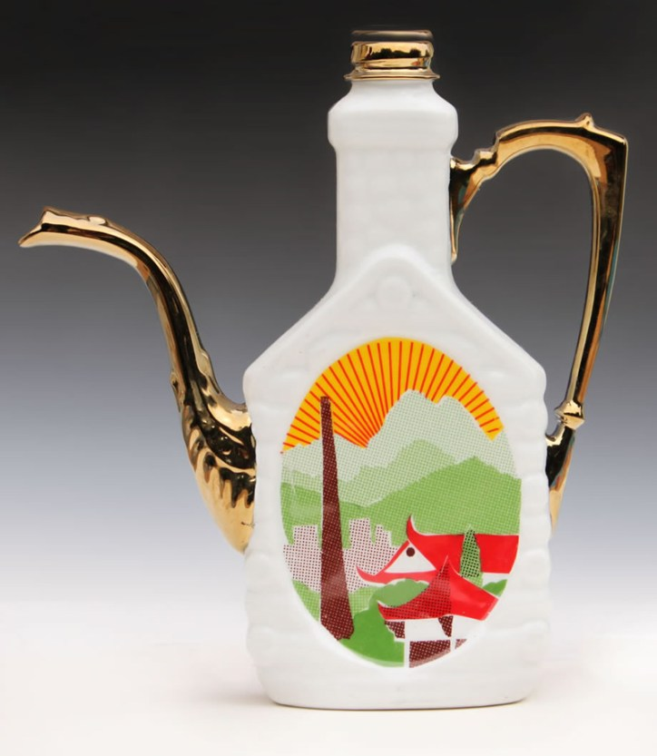 "Garth Johnson, ""Jingdezhen"" 2010, porcelain, 8.25 x 7.5 x 2""."