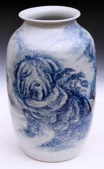 """Garth Johnson, """"The Shar-pei Immortals"""" detail, 2010, porcelain, 11.5 x 6.5 x 6.5""""."""