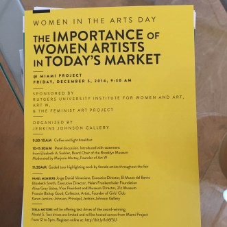 MIAMI PROJECT   The Importance of Women Artists in Today