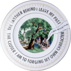 "Garth Johnson, ""Manifest Destiny (Currier and Ives - The Village Blacksmith #760)"" 2010, Bing & Grondahl limited edition Currier and Ives porcelain plate, decal, 8""."