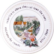 "Garth Johnson, ""Manifest Destiny (Currier and Ives - The Western Farmers Home #756)"" 2010, Bing & Grondahl limited edition Currier and Ives porcelain plate, decal, 8""."