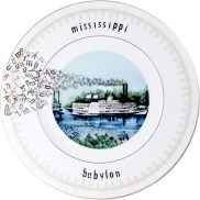 "Garth Johnson, ""Manifest Destiny (Currier and Ives - Rounding A Bend #758)"" 2010, Bing & Grondahl limited edition Currier and Ives porcelain plate, decal, 8""."