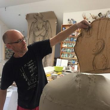 Sergei Isupov at work in his studio.